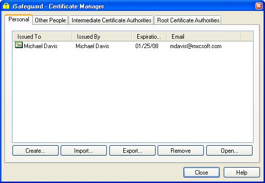 Isafeguard Manual Key And Certificate Management